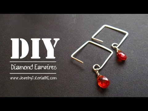 How to Make Square or Diamond Shaped Earwires - Jewelry Tutorial