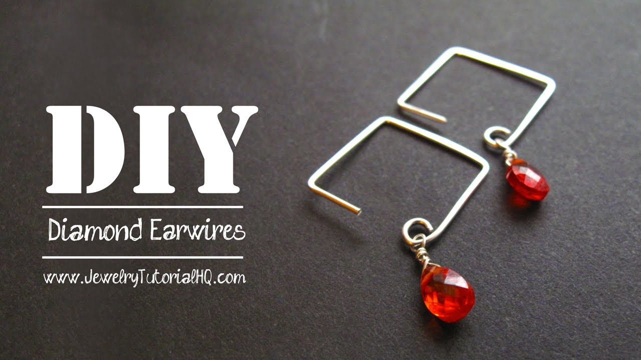How To Make Square Or Diamond Shaped Earwires Jewelry