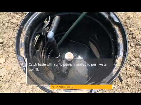 Catch Basin Connected To French Drain