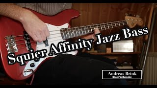 Squier by Fender Affinity Jazz BASS DEMO