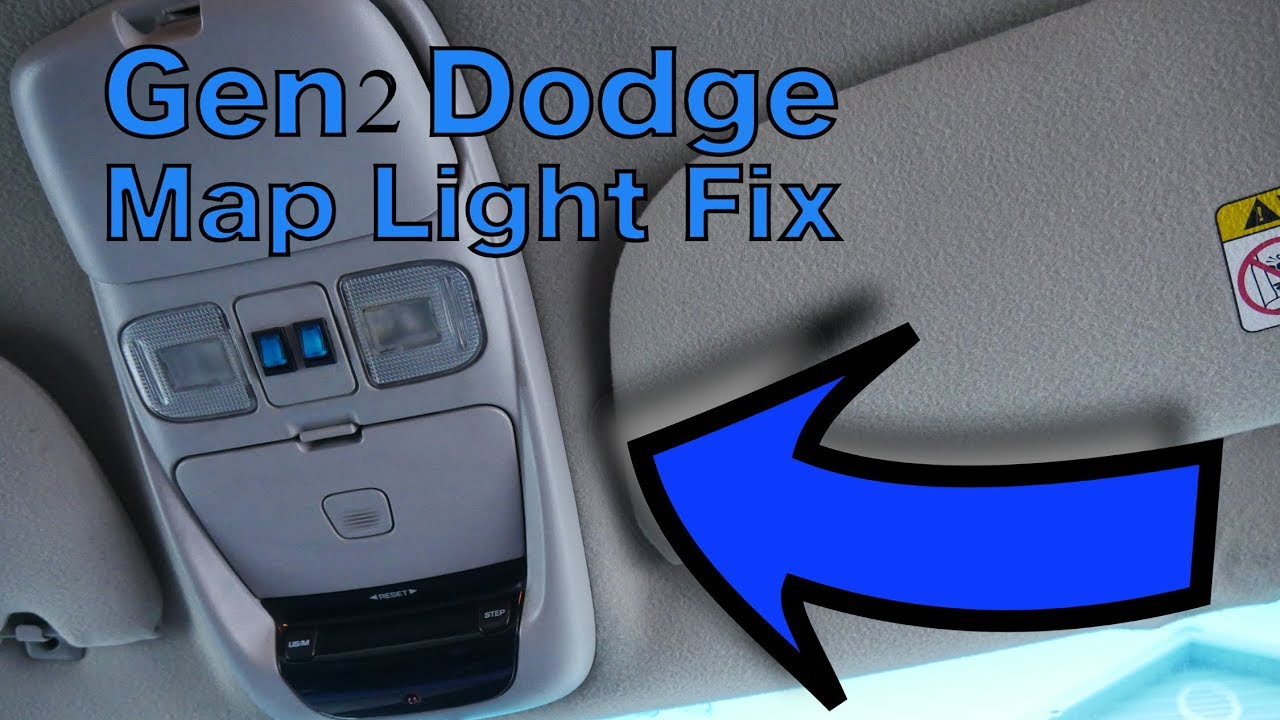 Gen2    Dodge       Ram       1500    Sport overhead console map light repair  YouTube