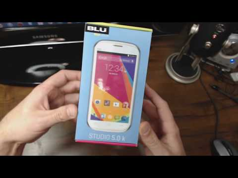 BLU Studio 5.0 K Unlocked Android Phone Unboxing & Review