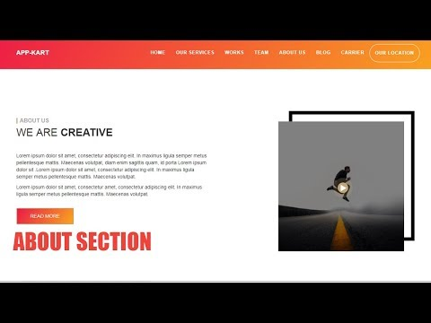 #5 Responsive Website Design || About Us Section || Html 5 Bootstrap Css3
