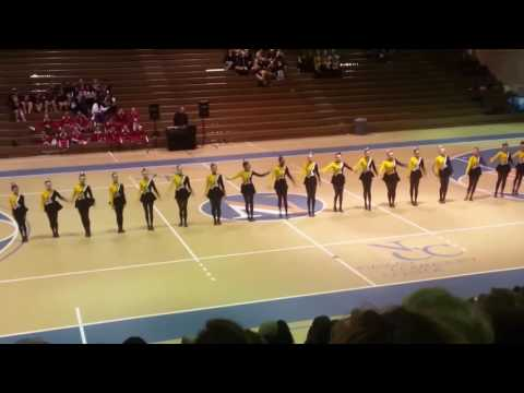 Commack Middle School kick line 2017 - March12th, NCC.