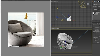 3dsmax model SWIVEL CHAIR - quickly