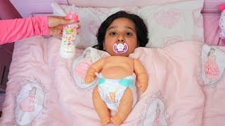 !!! Shafa pretend play baby with mommy