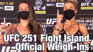 Ufc 251 Weigh-ins: Paige Vanzant Vs Amanda Ribas   Fight Island