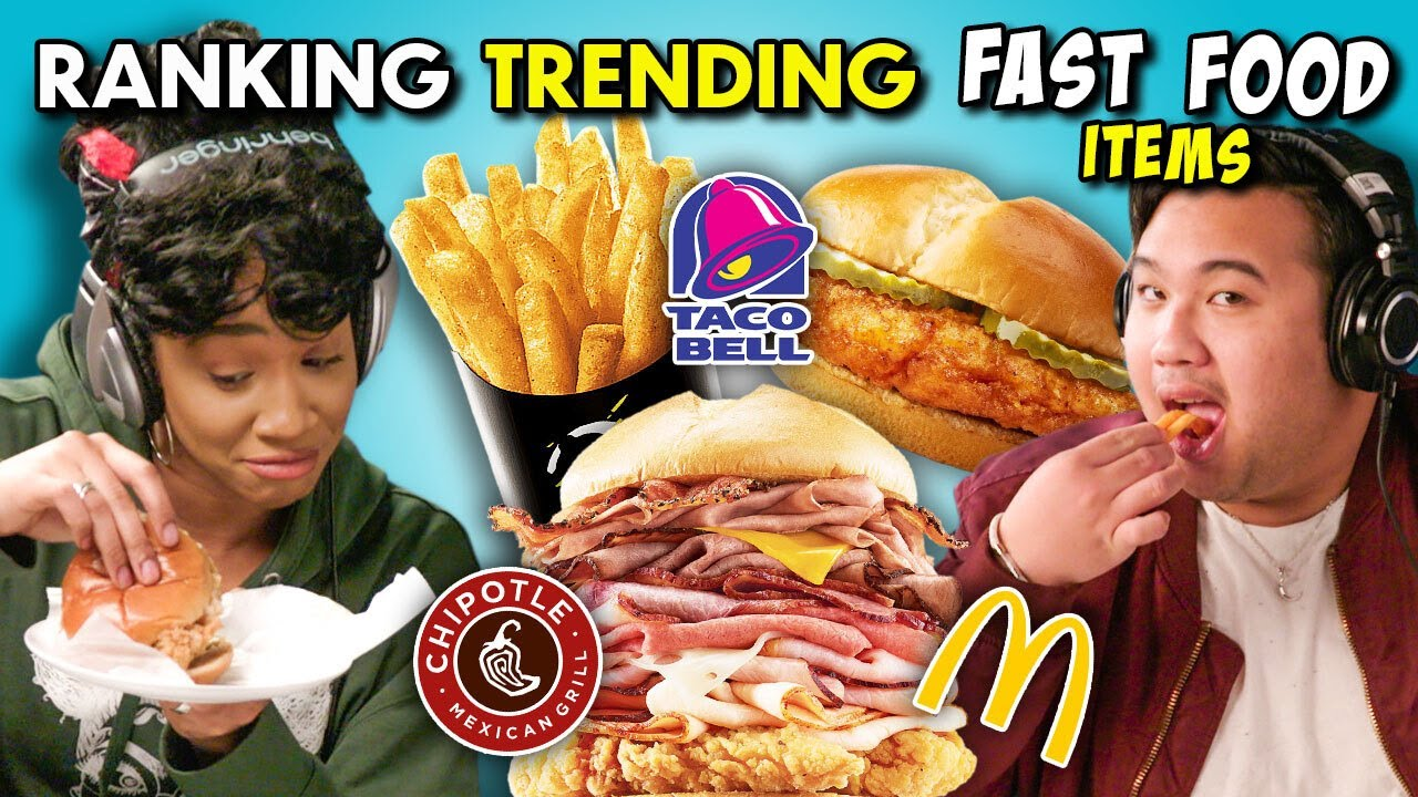 The Most Trending Fast Food Items RANKED! (McDonald's, KFC, Chipotle)