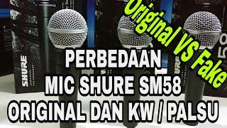 Perbedaan Mic Shure SM58 Original dan KW /Palsu