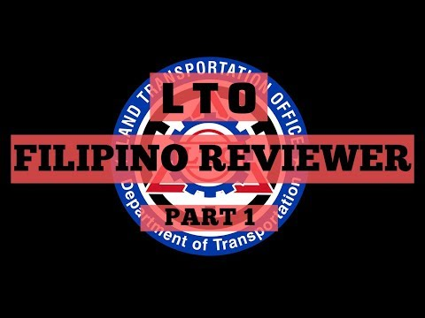 FILIPINO LTO EXAM REVIEWER NON PRO (PART 1) 2019