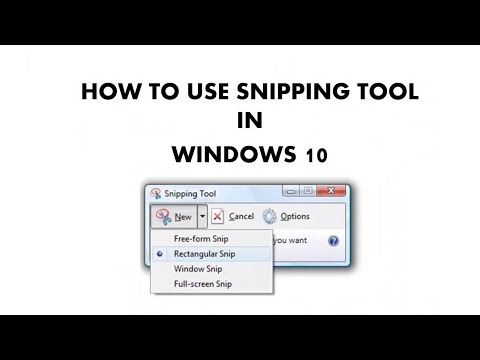 How to Use Snipping Tool in Microsoft Windows 10 Tutorial