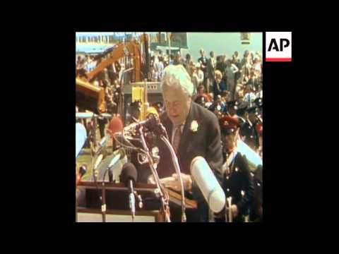 SYND 30 6 75  BRITAIN'S PRIME MINISTER, HAROLD WILSON DELIVERS SPEECH ABOUT ECONOMY