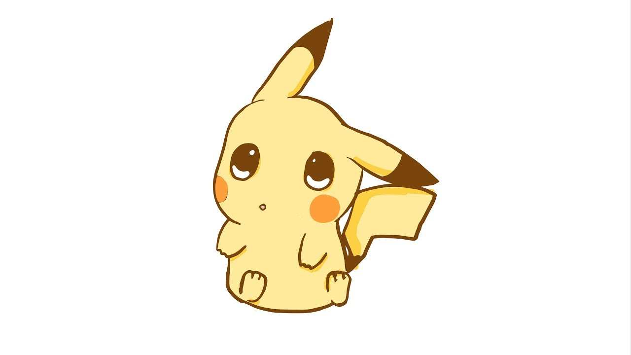 C mo dibujar a pikachu x kawaii youtube - Pikachu kawaii ...