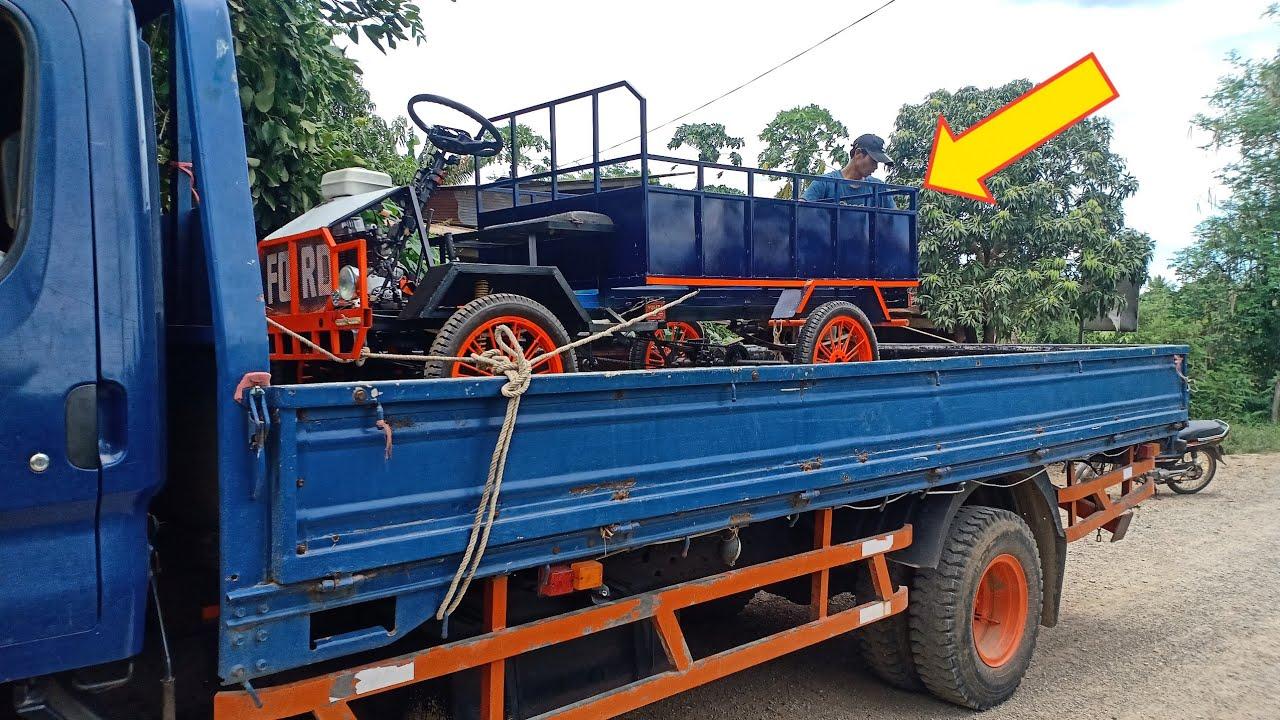 Homemade The Mini Truck in Cambodia - Indonesia 250 CC Power Car / Lii Xii CC