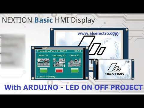 NEXTION HMI DISPLAY WITH ARDUINO -Getting Started With LED ON/OFF