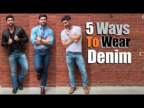 5 AWESOME Ways To Wear Your Favorite Jeans! Simple (But COOL) Outfit Ideas For Men