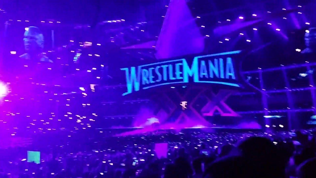 undertaker entrance - wrestlemania 30 - live