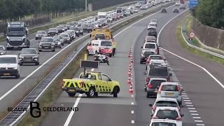 Gewonde na ongeval op A30 bij Lunteren