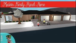 Roblox Bloxburg   Modern Ranch Family Home