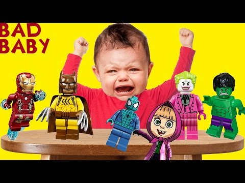 Thumbnail: Bad Baby Crying Masha Super Heroes Toys Colors Learn Finger Family Collection