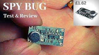 Cheap Ebay spy gaḋget FM spy bug transmitter. Amazing long range !