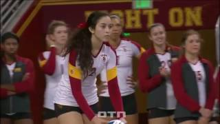 #tb Samantha Bricio (USC) vs BYU 131213