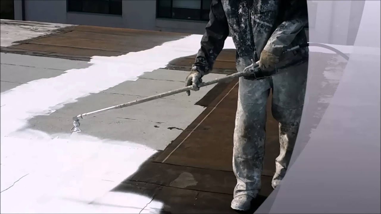 Fluid Applied Roofing Eterna Sil Youtube