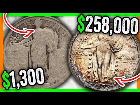 TOP 3 SILVER STANDING LIBERTY QUARTERS WORTH MONEY - 1916 QUARTER