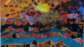 Sunrise Mosaic, Abstract Collage Painting