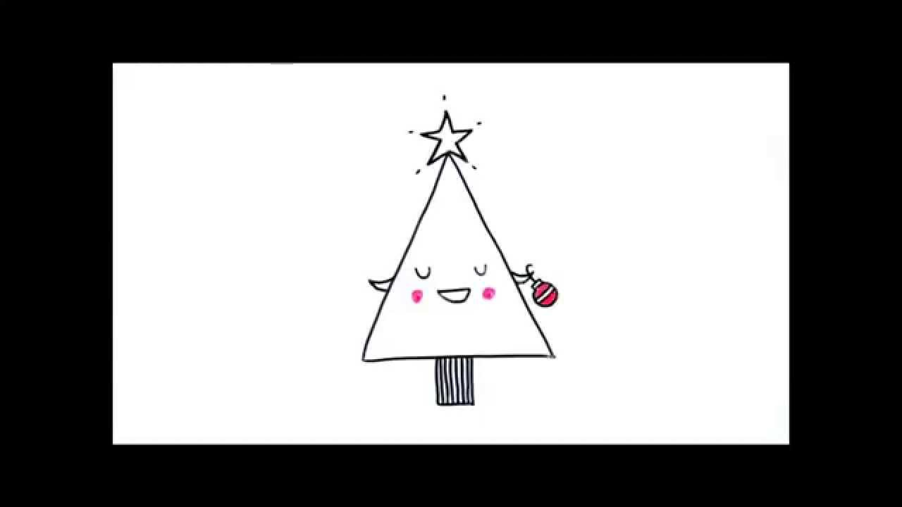 How to draw a jolly christmas tree cute doodles with for Cute christmas tree drawing