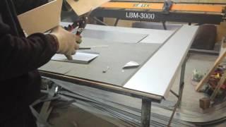 изготовление угла цокольного отлива