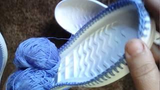 вязаная обувь как связать балетки на подошве часть 1