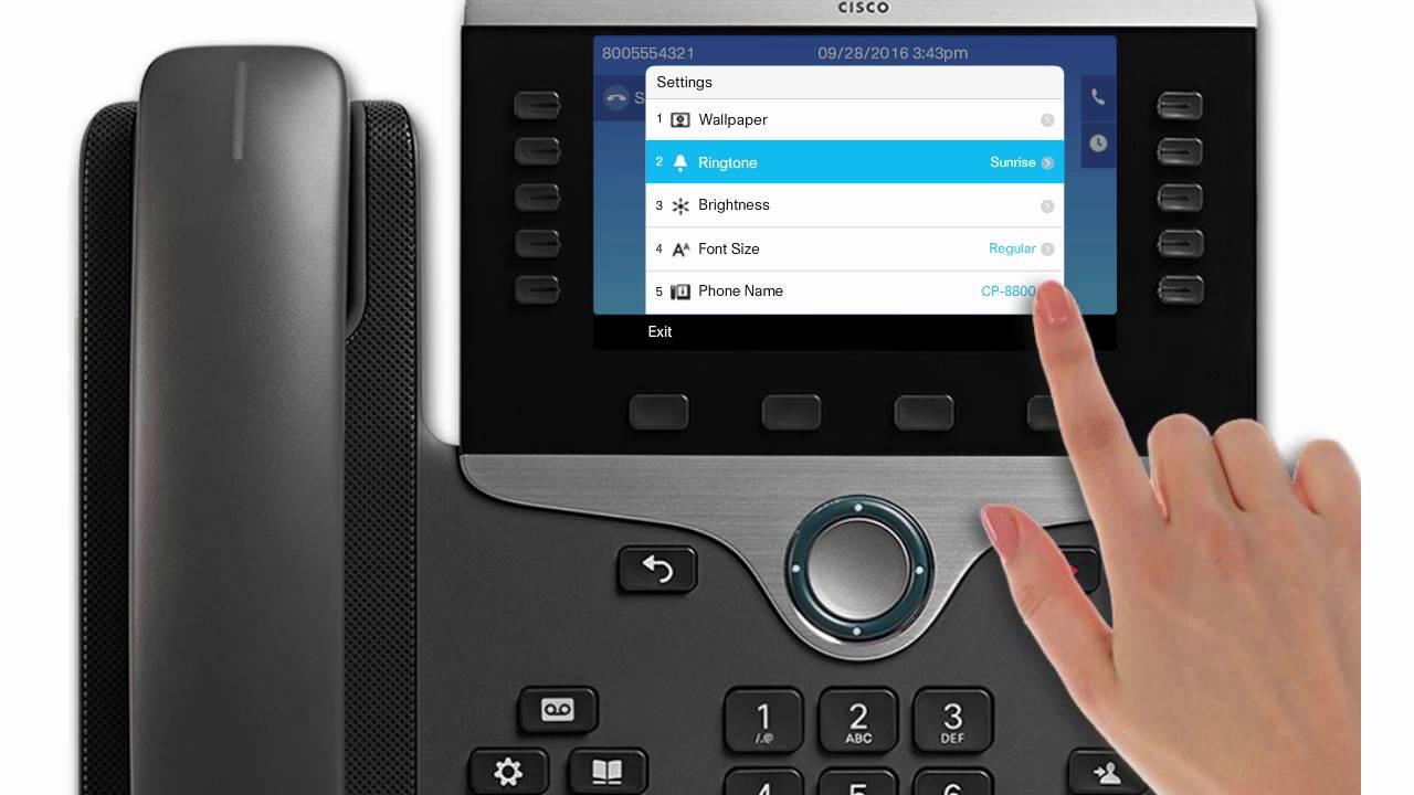 Cisco 8811, 8851, 8865: Change Your Ringtone