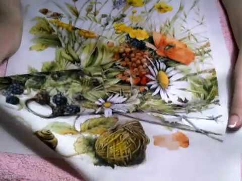 Вышивка лентами. Роза от Дугласа. /embroidery ribbons rose - YouTube
