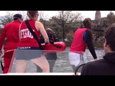 Dean Elmore Jumps Into The Charles River...Again
