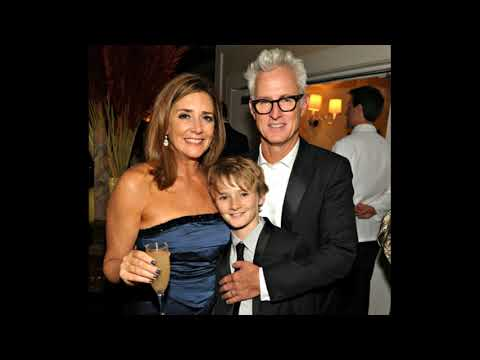 actor john slattery with his wife actress talia balsam and Their son