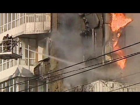 Russia: apartment block blaze in Krasnoyarsk
