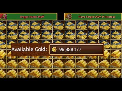 Arcane Legends   Solo Gold Farming 190% Gold Loot Insane!