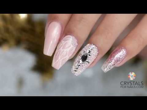 Swarovski Crystal Nails with Crystal Culture Nail Art Designs - Swarovski Crystal Nails With Crystal Culture Nail Art Designs - YouTube