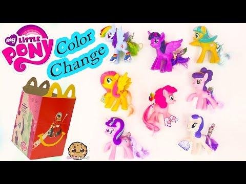 MLP Color Change My Little Pony Mcdonalds Happy Meal 8 Set Toys 2016 Cookieswirlc Video