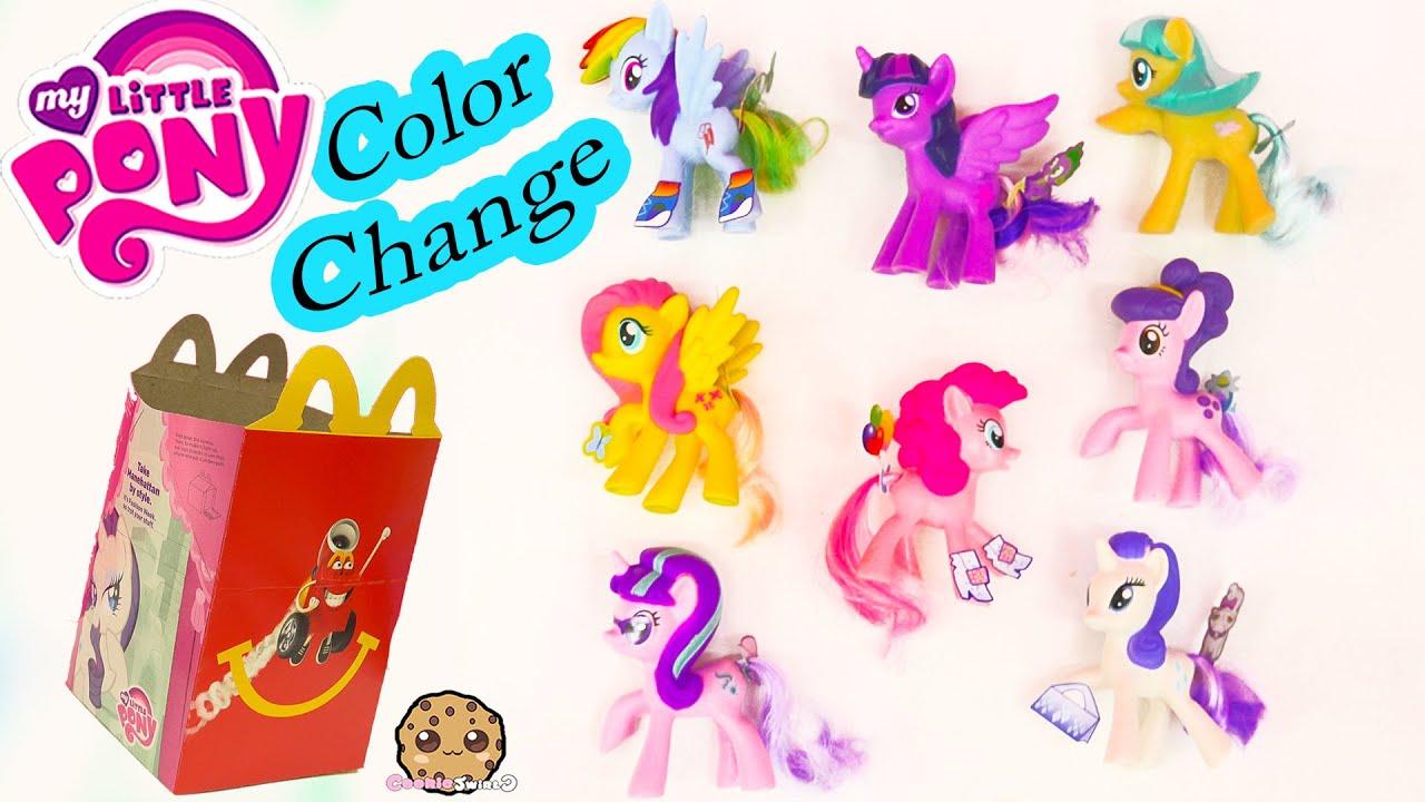 mlp color change my little pony mcdonalds happy meal 8 set toys 2016