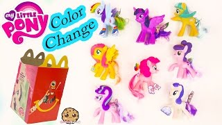 MLP Color Change My Little Pony Mcdonalds Happy Meal 8 Set Toys 2016 Cookieswirlc Video