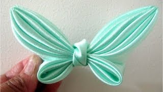 Repeat youtube video Moños para el cabello  en cintas mariposa alas verde mar flower butterfly wings