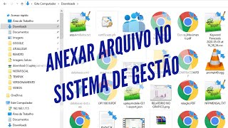 Anexar arquivos externo dentro do  ERP da UP KEY