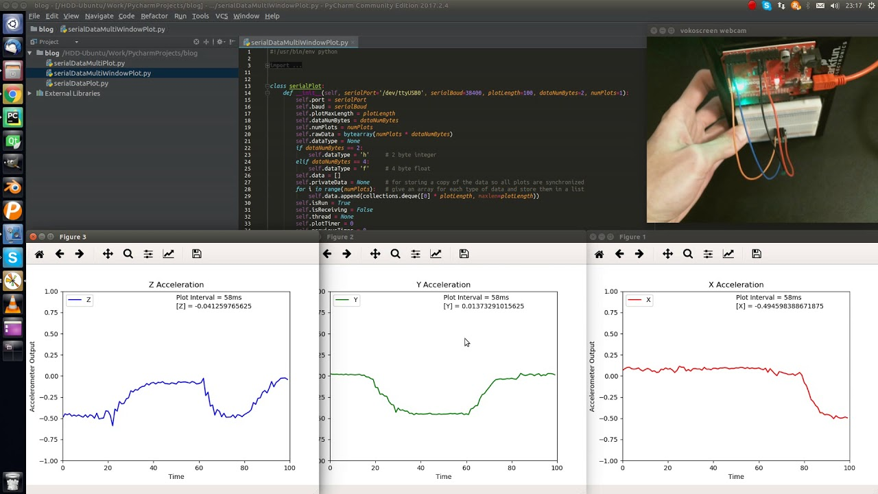 Arduino Real Time Multiple Plot with Python (Multiple Graphs)