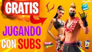 🔴*NEW* FREE AWARDS! PLAYING WITH Fortnite Live SUBS + CHETADA ACCOUNT SWEEPSTAKE!