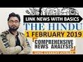 1 FEBRUARY 2019 The HINDU NEWSPAPER ANALYSIS TODAY in Hindi (हिंदी में) - News Current Affairs  IQ
