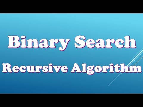 Design and Analysis of Algorithms - Lecture 4 - Binary Search