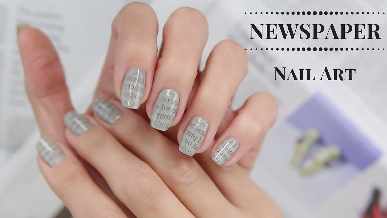 newspaper nail art tutorial