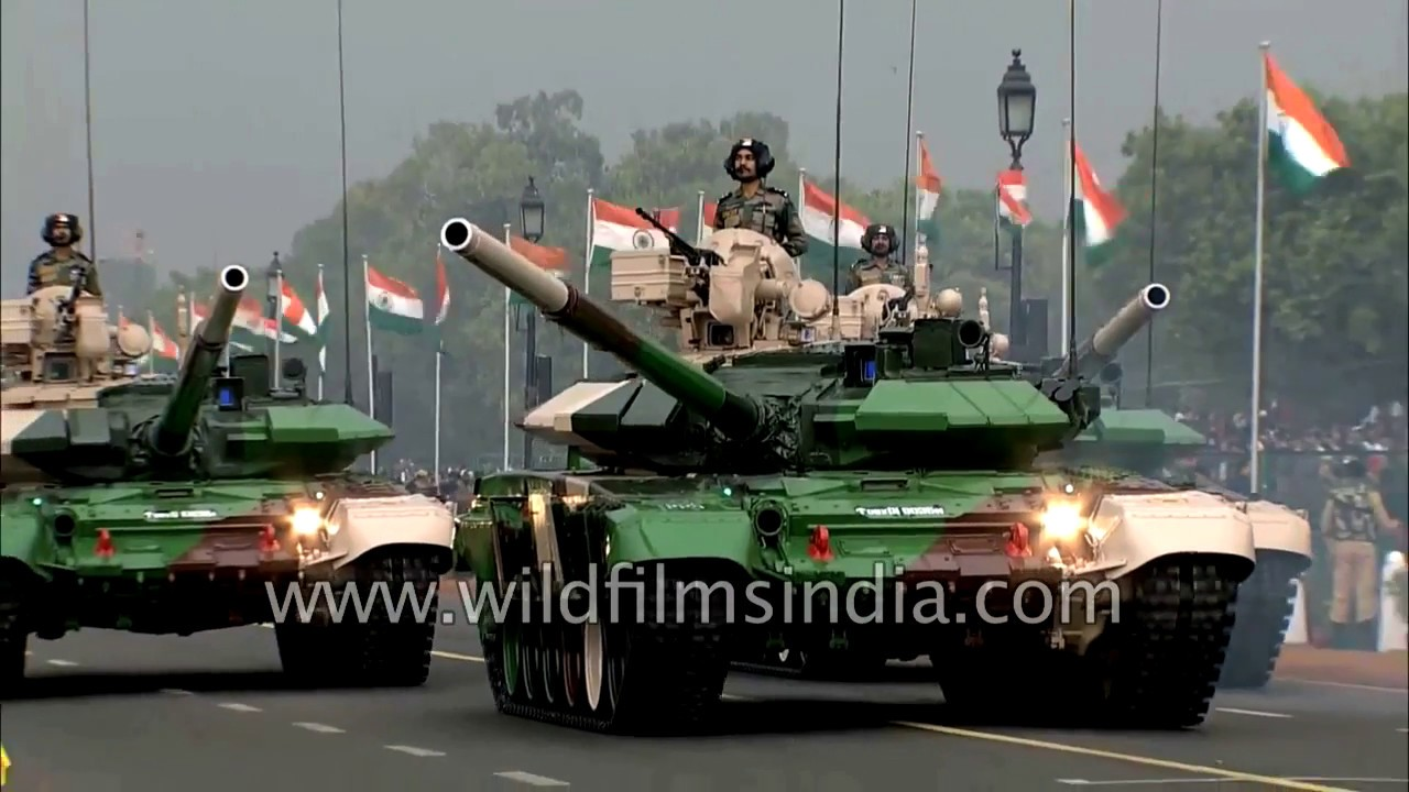 Tank T90 Bhishma of the Indian Army powers ground battle power